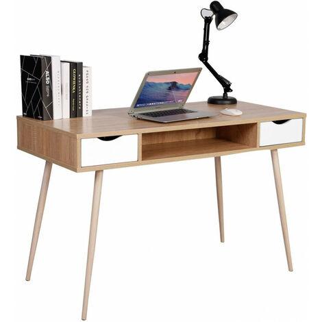 Schreibtisch Computertisch Arbeitstisch Holz Stahl