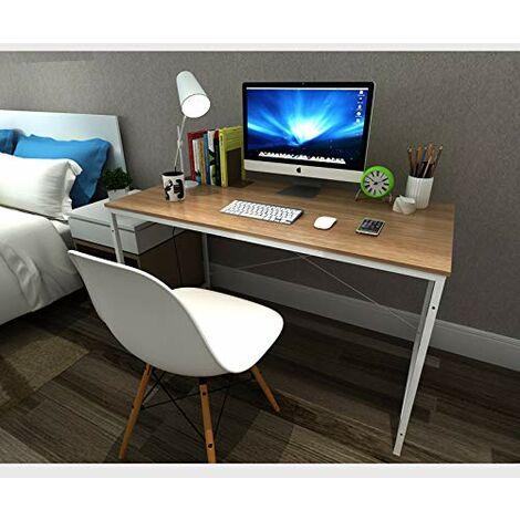 Schreibtisch Computertisch Büromöbel PC Tisch Weiss+hell Eiche