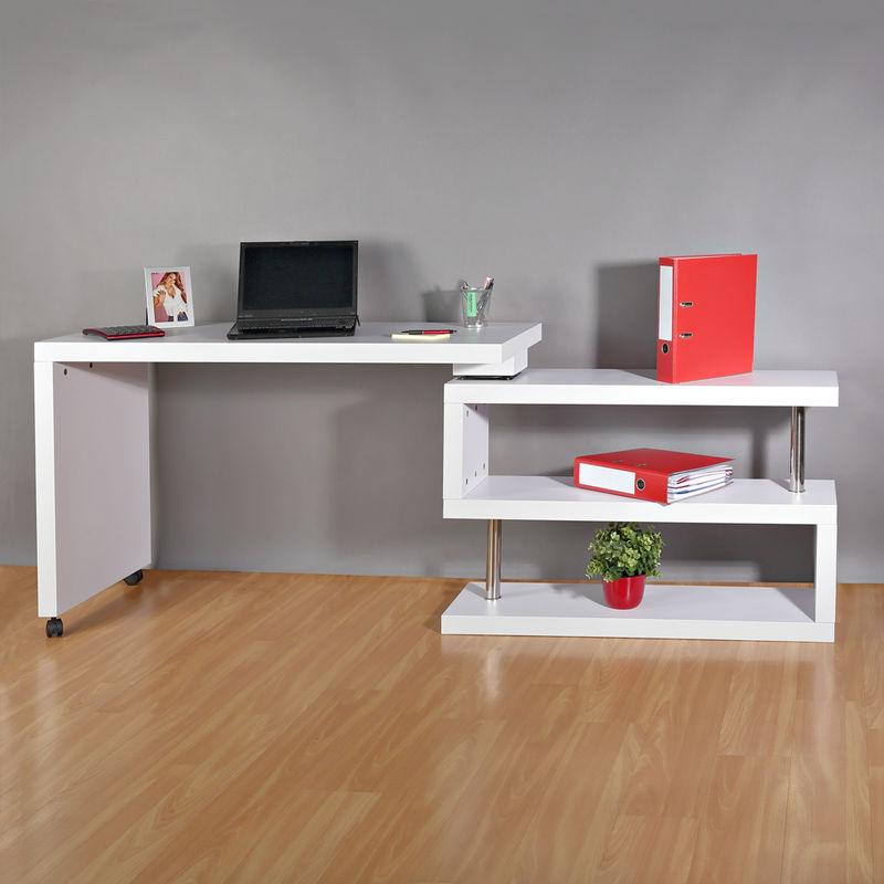 Schreibtisch Computertisch Bürotisch Arbeitstisch Regal Büroregal Wandregal Büro