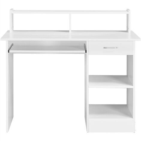 Schreibtisch Computertisch mit Ablage Bürotisch PC-Tisch Tisch für Home Office 106 x 50 x 94 cm