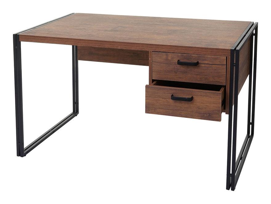 Schreibtisch 183, Bürotisch Computertisch, 76x122x73cm 3D-Struktur, Wildeiche-Optik - HHG