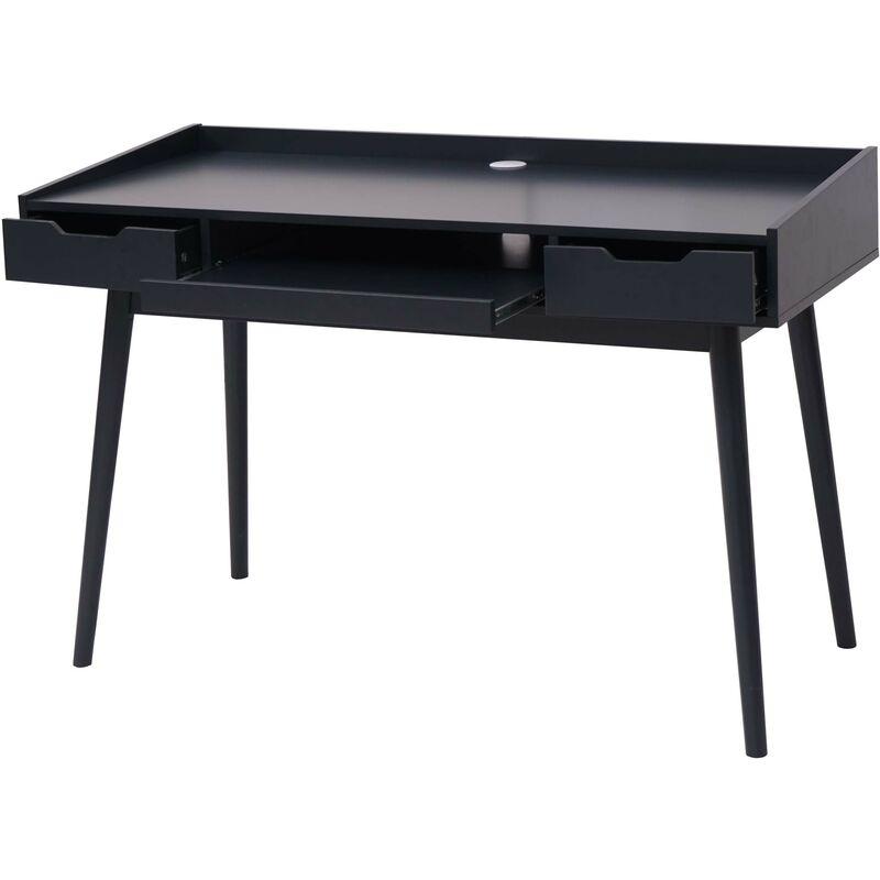 Schreibtisch 888b, Bürotisch Computertisch, MDF 120x55cm ~ dunkelgrau - HHG