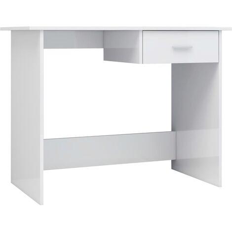 Weißer Hochglanz Schreibtisch 2021