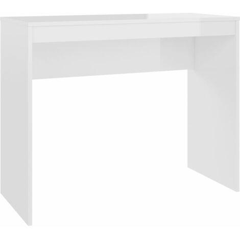 vidaXL Schreibtisch mit Regalen Weiß Spanplatte Computertisch Bürotisch Tisch
