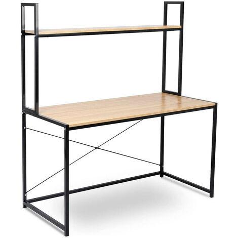 Schreibtisch mit Ablage in praktischem Design