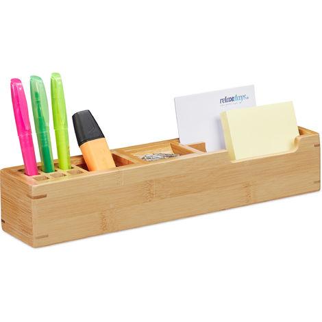 Bambus Füllfederhalter Geschenkbox Aufbewahrungsbox mit 2 Fächern