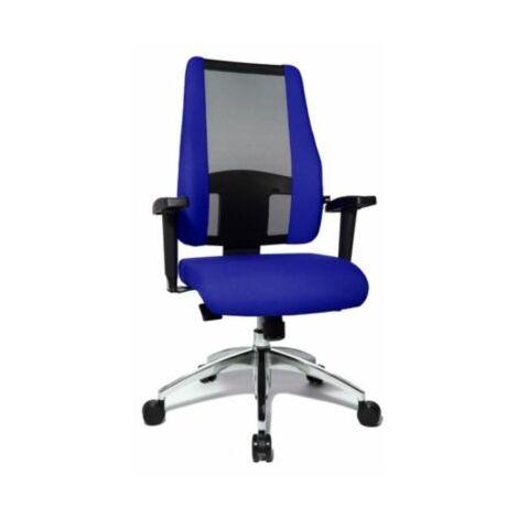 Schreibtischstuhl AIR SYNCRO | Mit Netz-Rückenlehne | Schwarz-Blau | Topstar