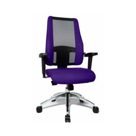 Schreibtischstuhl AIR SYNCRO | Mit Netz-Rückenlehne | Schwarz-Lila | Topstar