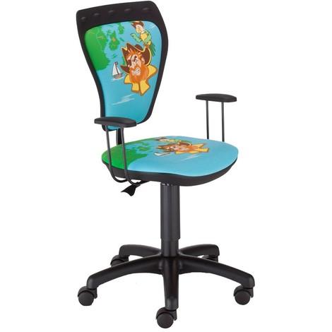 Schreibtischstuhl Kinder Zimmer Jungen Pirat Drehstuhl Ministyle TS22 RTS PIRATE mit Armlehnen