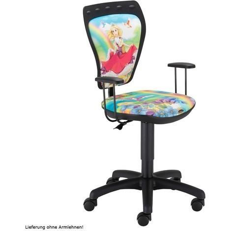 Schreibtischstuhl Kinderzimmer Kinder Mädchen Prinzessin Drehstuhl Ministyle TS22 RTS
