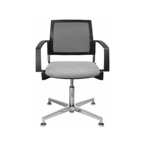 Schreibtischstuhl | Mit Armlehnen | Netz-Rückenlehne | Schwarz-Grau | Topstar
