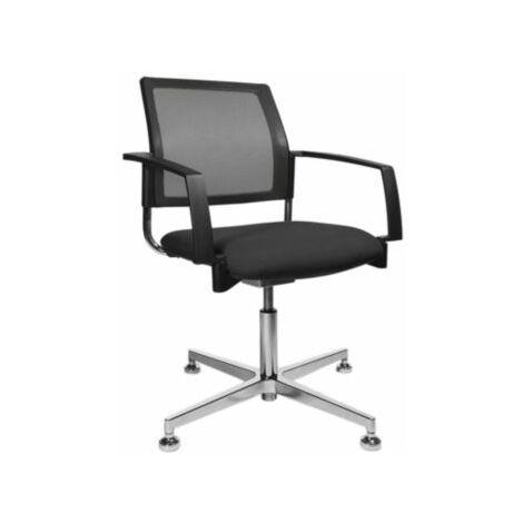 Schreibtischstuhl | Mit Armlehnen |Netz-Rückenlehne | Schwarz | Topstar