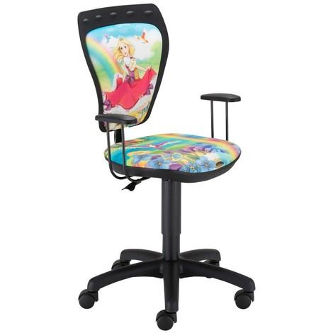 Schreibtischstuhl Prinzessin Kinderzimmer Kinder Mädchen Drehstuhl mit Armlehnen