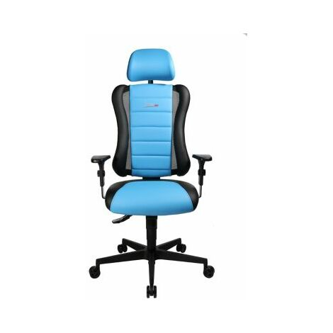 Schreibtischstuhl SITNESS RS | Höhenverstellbar | Mit Armlehnen | Schwarz-Blau |