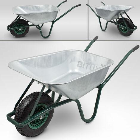 Schubkarre 100L 250kg Schiebkarre Scheibtruhe Schubkarren für Bau Garten