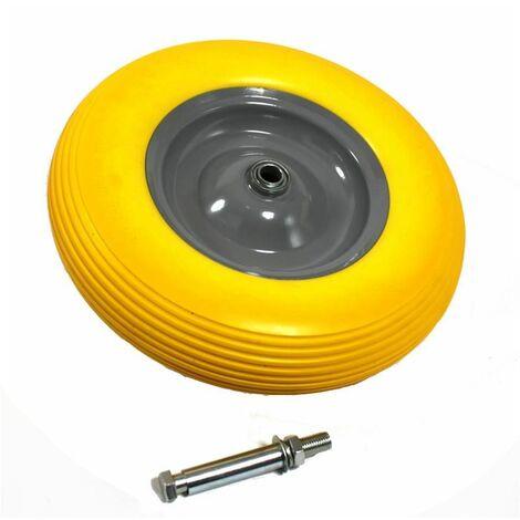 Schubkarrenrad Rad Schubkarre Vollgummi PU 4.80/4.00-8 400 mm Reifen