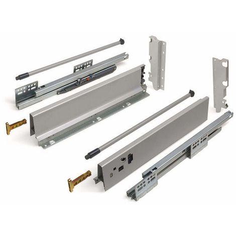 Schubladensystem Modern Box Zargenhöhe 199 mm Nennlänge 250-550 mm Soft-Close grau