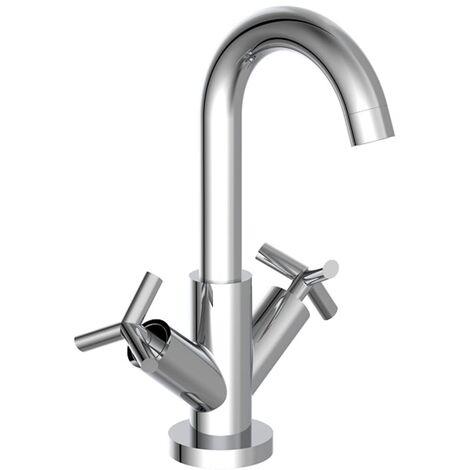 SCHÜTTE 2-Handle Basin Mixer ELIOT Chrome - Silver