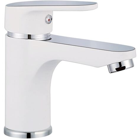 SCHÜTTE Basin Mixer Tap ALASKA White and Chrome