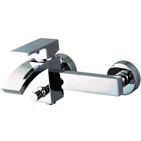 SCHÜTTE Bath Mixer with Waterfall Spout CASCATA Chrome - Silver