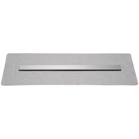SCHÜTTE Desagüe de ducha con tapa de acero inoxidable 80 cm