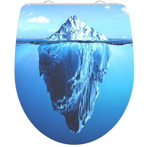 SCHÜTTE Duroplast High Gloss Toilet Seat with Soft-Close ICEBERG - Multicolour