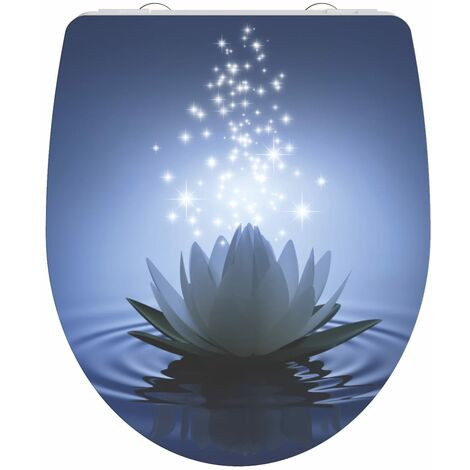 SCHÜTTE Duroplast High Gloss Toilet Seat with Soft-Close WATER LILY - Multicolour