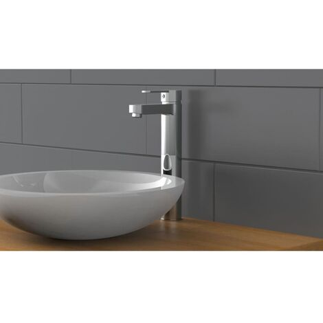 SCHÜTTE Grifo mezclador de lavabo alto ELEPHANT cromado - Plateado