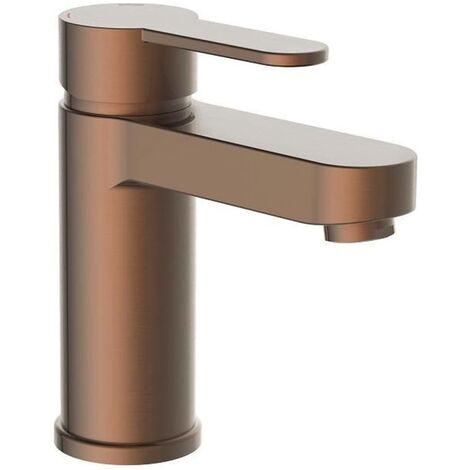 SCHÜTTE Grifo mezclador de lavabo ELEPHANT cobre mate