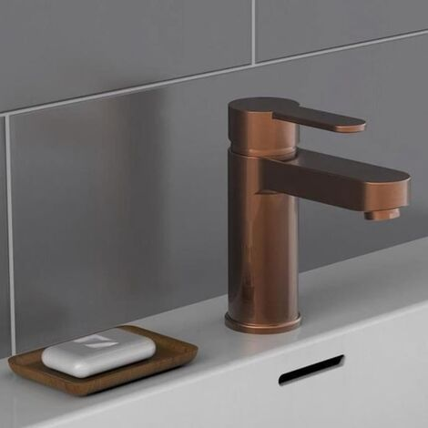 SCHÜTTE Grifo mezclador de lavabo ELEPHANT cobre mate - Marrón