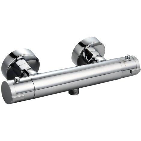 SCHÜTTE Grifo mezclador termostático para ducha LONDON 5,5 cm - Plateado