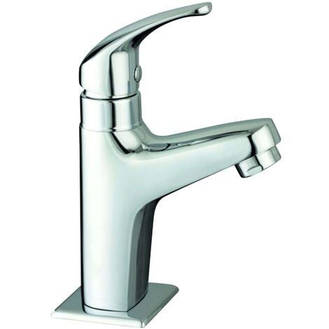 SCHÜTTE Grifo vertical de agua fría VICO cromado - Plateado