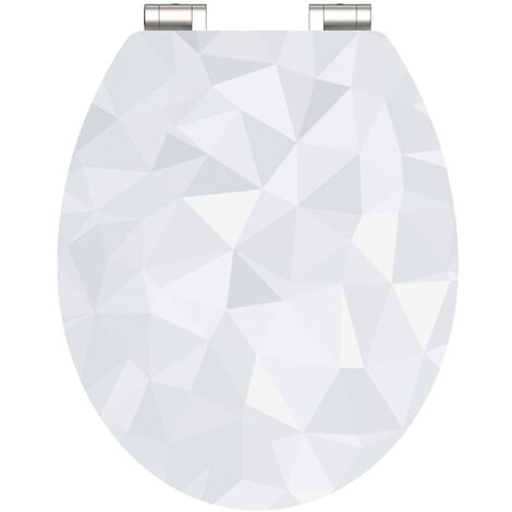 SCHÜTTE High Gloss Toilet Seat with Soft-Close DIAMOND MDF - Multicolour