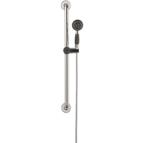 SCHÜTTE Juego de barra de ducha para mayores VITAL cromo - Plateado