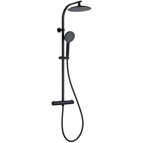 "main image of ""SCHÜTTE Overhead Shower Set MADURA FRESH Matt Black - Black"""