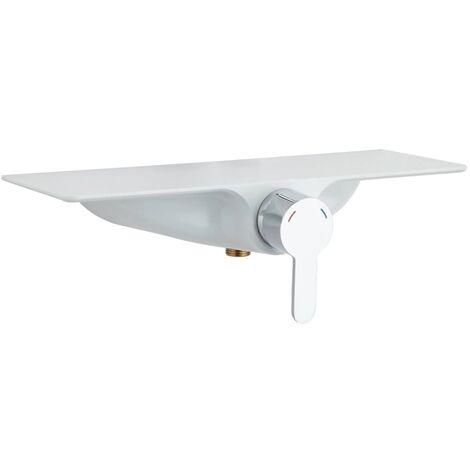 SCHÜTTE Shower Mixer with Shelf WATERWAY - Silver
