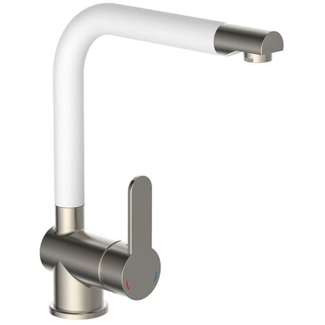 """main image of """"SCHÜTTE Sink Mixer with High Spout RIO Stainless Steel White Matt - Multicolour"""""""