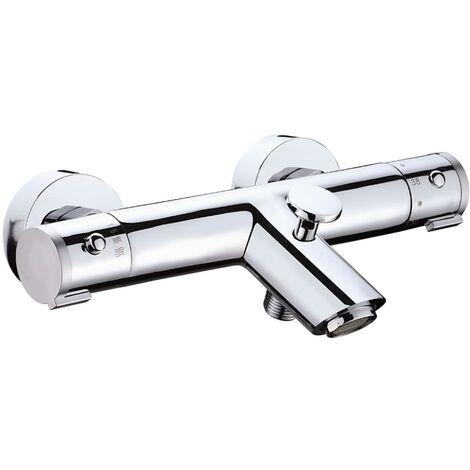 SCHÜTTE Thermostatic Bath Shower Mixer Tap LONDON - Silver