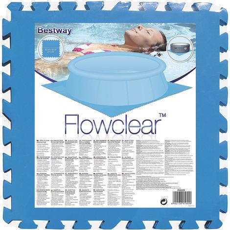 Schützende Bodenunterlage aus Schaum für Swimmingpool 8 teilig faltbar von Bestway Pool Bodenschutzmatte 50x50x0.3cm blau