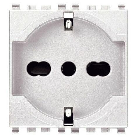 Schuko socket universal Vimar Eikon blanco 2+T 10/16A 20210.B