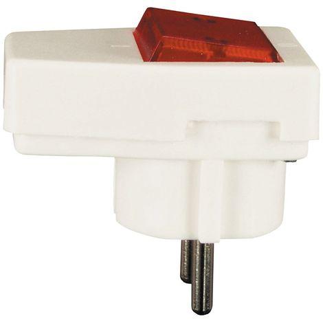 Schuko-toma con lámpara control blanco