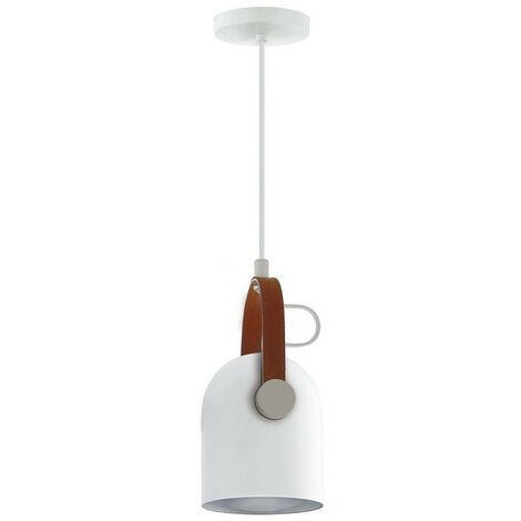 Schuller Adame - Pendant Light Dome Light, Black, Brass, Gold, Leather, 1x E14