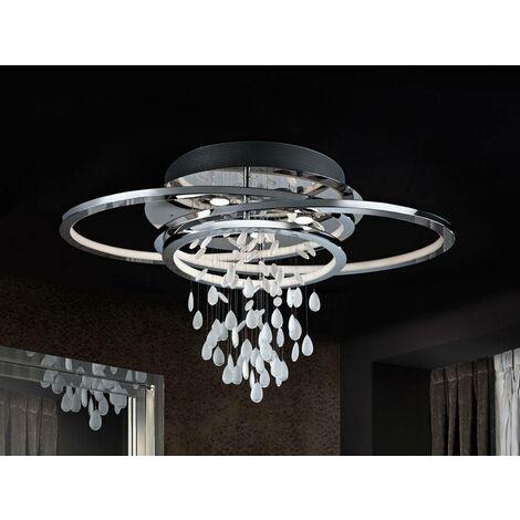 Schuller Bruma - 5 Light Crystal Flush Ceiling Light Chrome, GU10