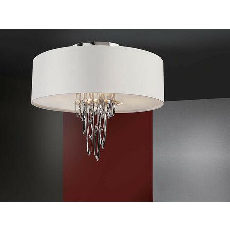 Schuller Domo - Semi Flush Ceiling Light Cylindrical, Chrome, 4x E14