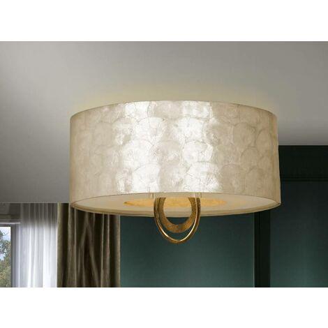 Schuller Ed - 4 Light Flush Ceiling Light Gold, E27