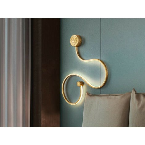 Schuller Grafos - Integrated LED Wall Light, Gold Leaf