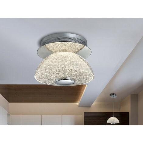 Schuller Lua - Semi Flush Ceiling Light Glass, Chrome