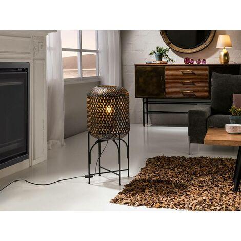 Schuller Mara - Floor Lantern Black, gold, E27