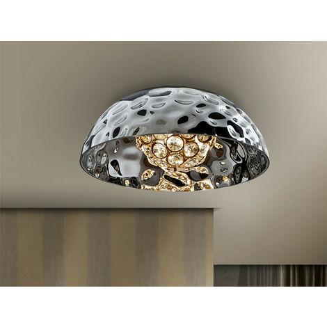 Schuller Mare - Semi Flush Ceiling Light, Crystal, Chrome, 3x G9