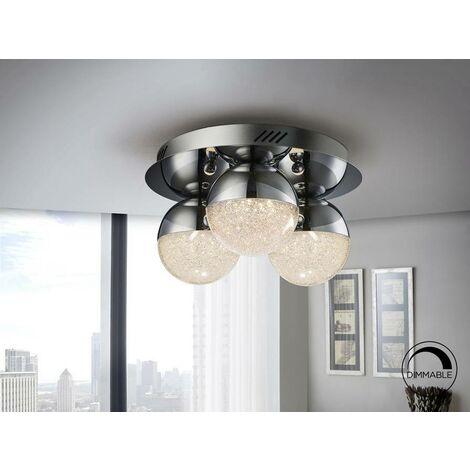Schuller Sphere - Integrated LED Dimmable Flush Ceiling Light Chrome